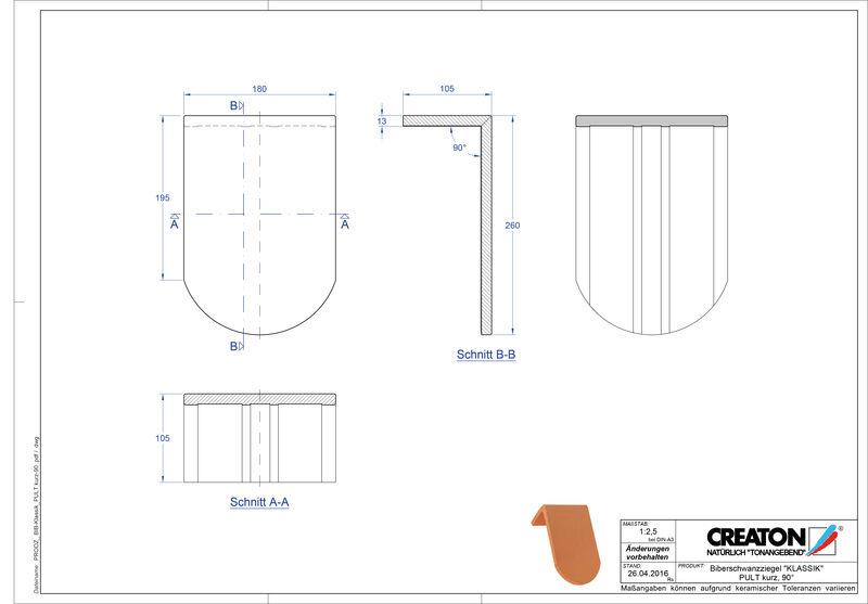 Plik CAD produktu KLASSIK krój zaokrąglony RUND-PULT-kurz