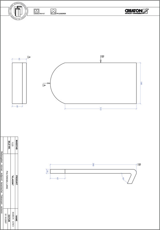 Plik CAD produktu KLASSIK krój zaokrąglony RUND-PULT-lang1