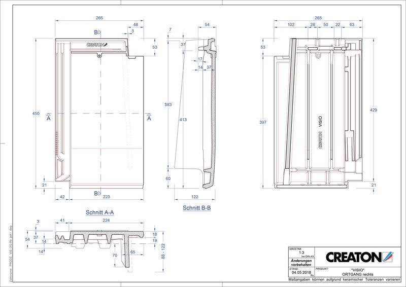 Plik CAD produktu VISIO dachówka boczna prawa OGR