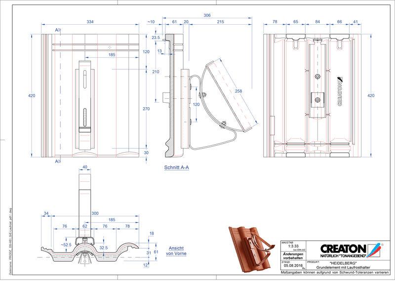 Plik CAD produktu HEIDELBERG dach. podst. Laufrost