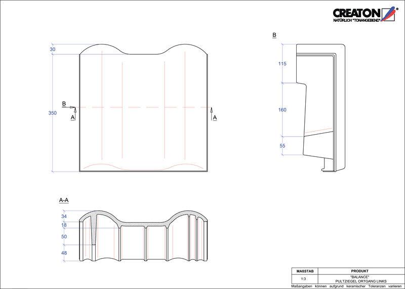 Plik CAD produktu BALANCE dachówka pulpitowa boczna lewa PULTOGL