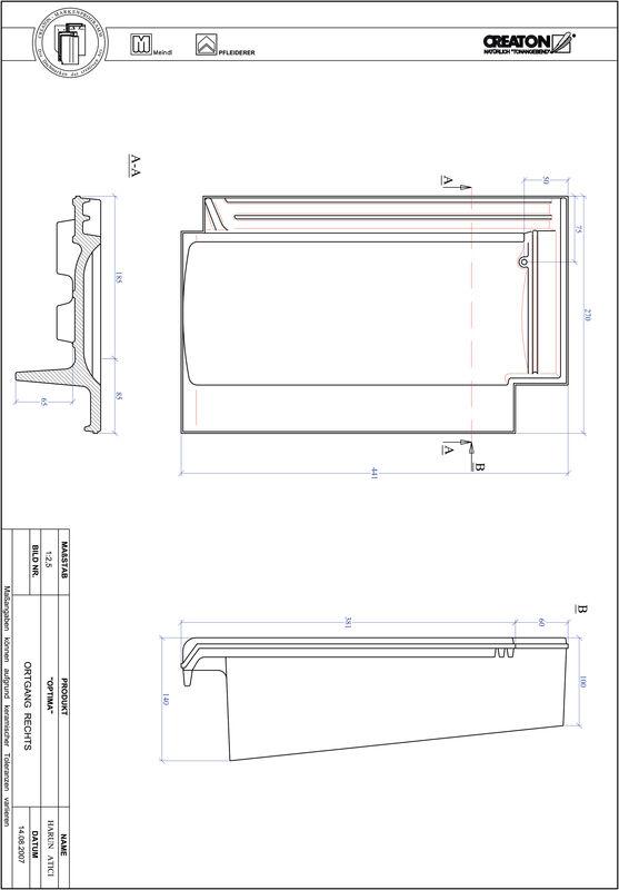 Plik CAD produktu TERRA OPTIMA dachówka boczna prawa OGR