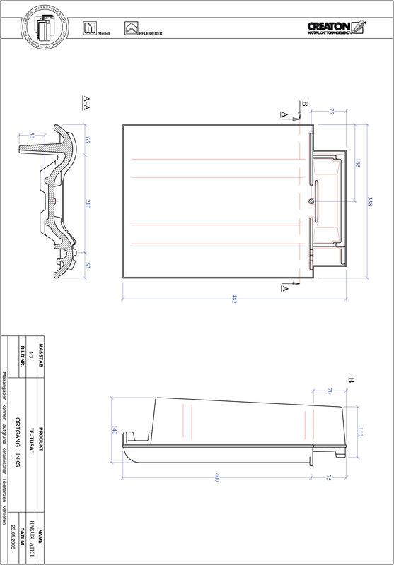 Plik CAD produktu FUTURA dachówka boczna lewa OGL