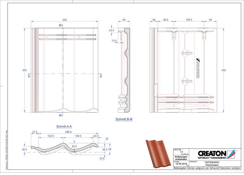 Plik CAD produktu GÖTEBORG dachówka połaciowa Flaechenstein