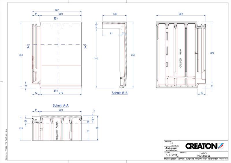 Plik CAD produktu VISIO dachówka pulpitowa PULT