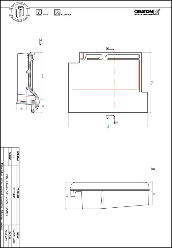 Plik CAD produktu FUTURA dachówka pulpitowa boczna prawa PULTOGR