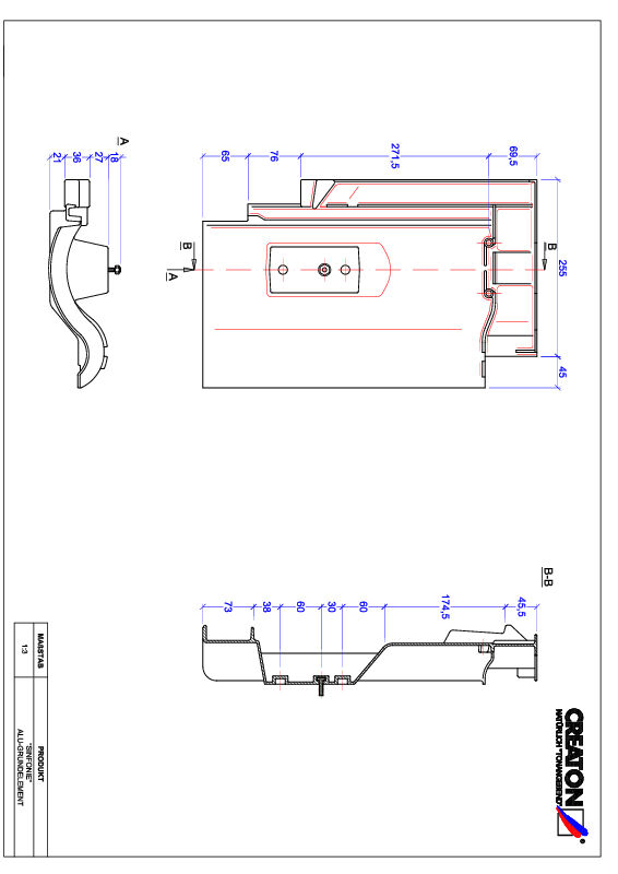 Plik CAD produktu SINFONIE aluminium grunt. GRUNDALU