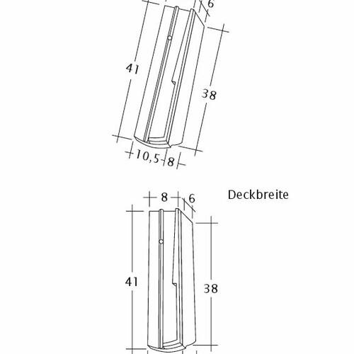 Rysunek techniczny produktu PROFIL Kera-Saechs-18cm-SchiebeOG