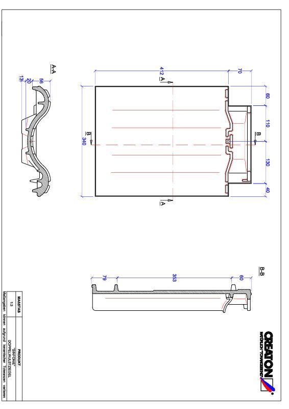 Plik CAD produktu SINFONIE dachówka dwufalowa DWZ