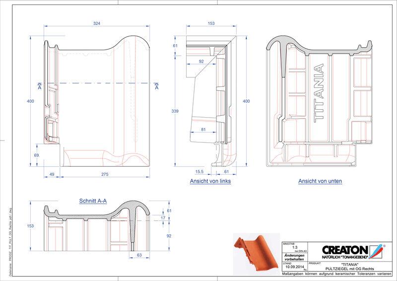 Plik CAD produktu TITANIA dachówka pulpitowa boczna prawa PULTOGR