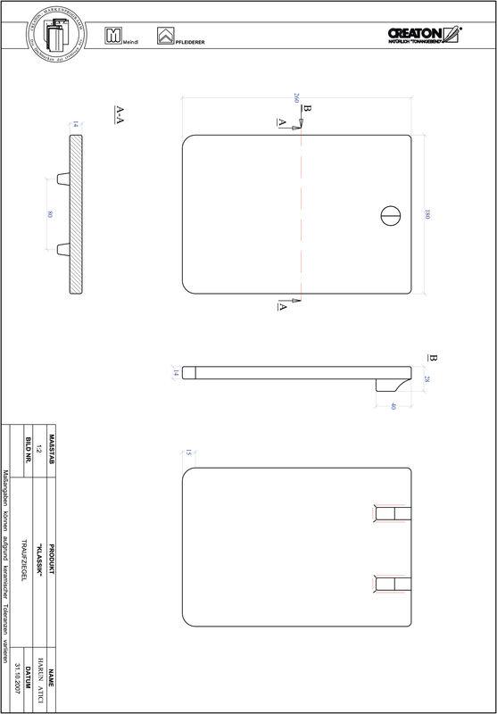 Plik CAD produktu KLASSIK krój zaokrąglony RUND-TRAUFZIEGEL