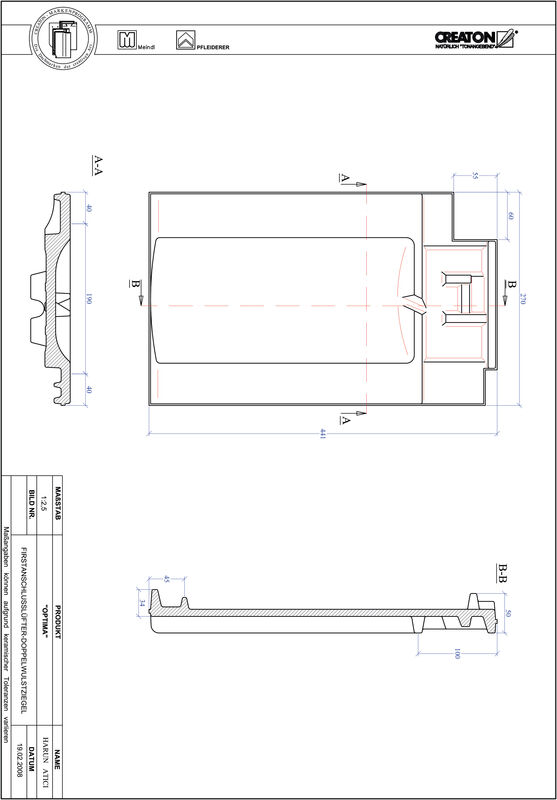 Plik CAD produktu OPTIMA dachówka kalenicowa wentylacyjna dwufalowa FALDWZ
