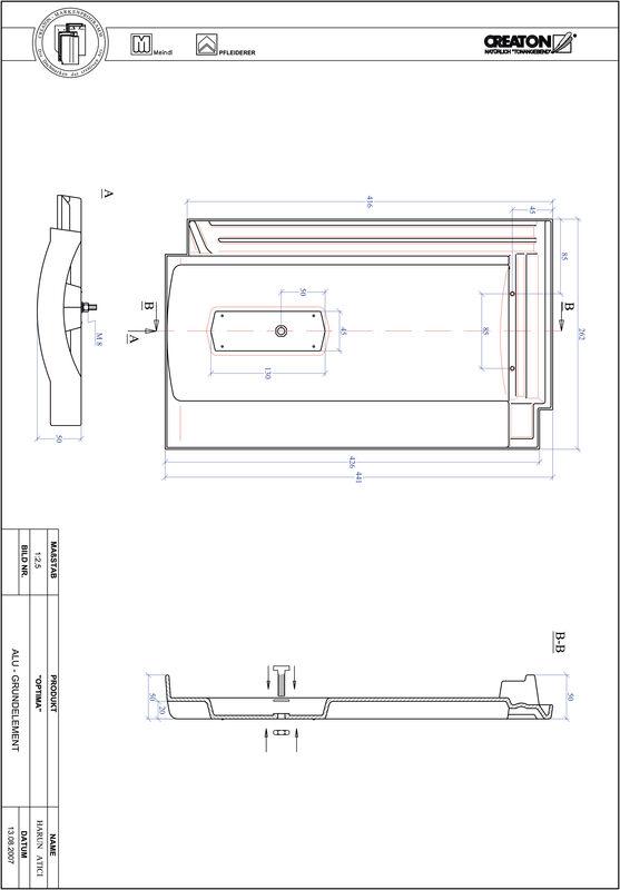 Plik CAD produktu TERRA OPTIMA aluminium grunt. GRUNDALU