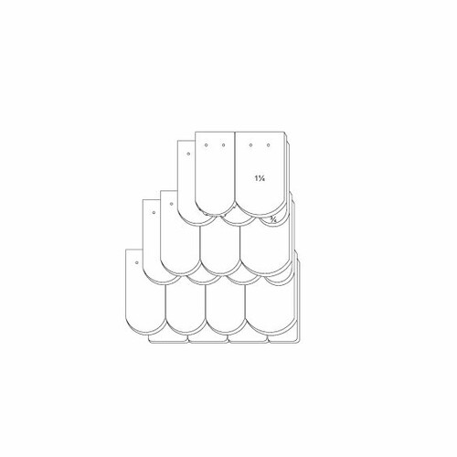 Rysunek techniczny produktu KLASSIK OGAusbildung-Kronendeckung-3-4-1-1-4-Traufziegel