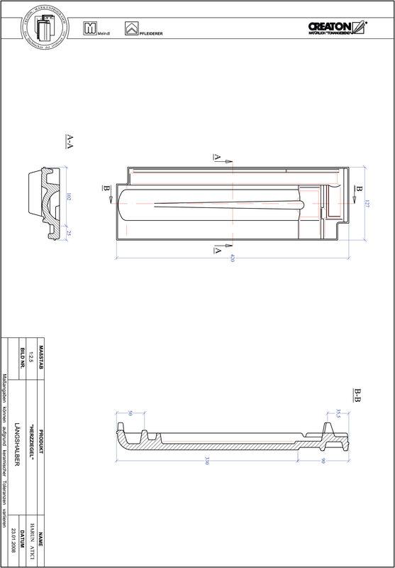 Plik CAD produktu HERZZIEGEL dachówka połówkowa LH
