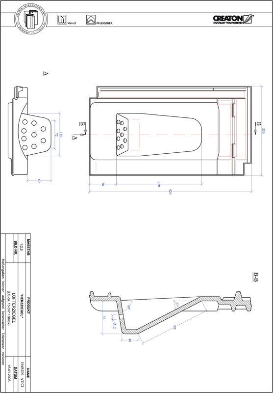 Plik CAD produktu HERZZIEGEL dachówka wentylacyjna LUEFTZ