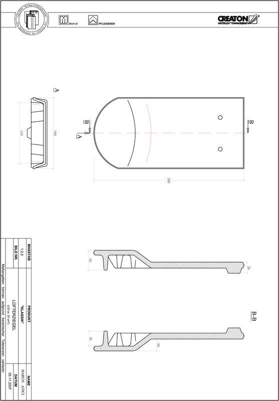 Plik CAD produktu KLASSIK krój zaokrąglony RUND-LUEFTZ