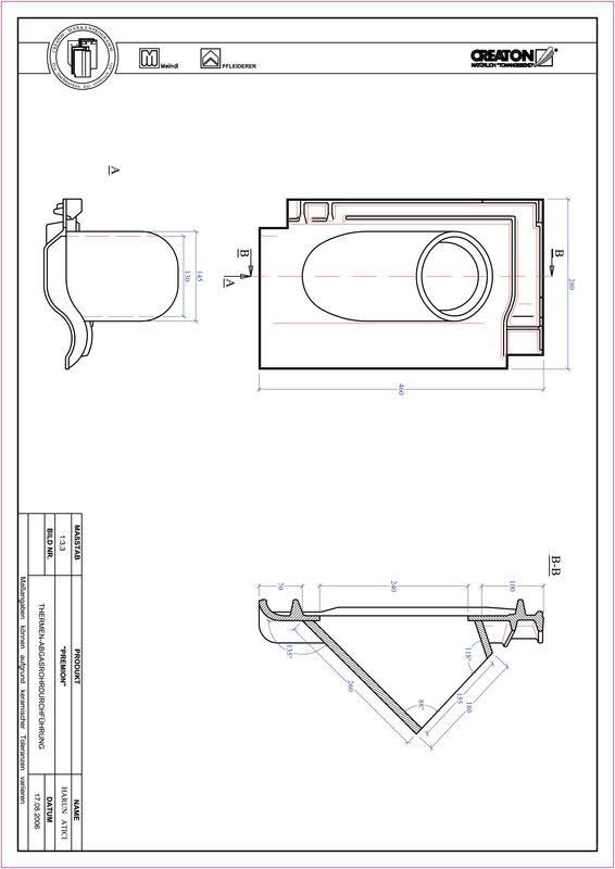 Plik CAD produktu PREMION dachówka przelotowa do kominów gazowych THERME