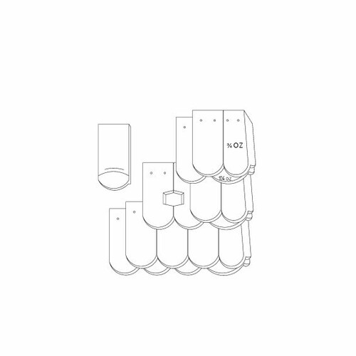 Rysunek techniczny produktu KLASSIK OGAusbildung-Kronendeckung-mit-OG-3-4-1-1-4
