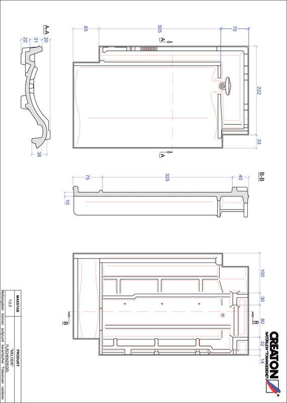 Plik CAD produktu MELODIE dachówka połaciowa FLA