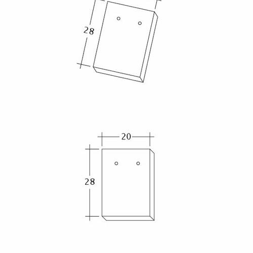 Rysunek techniczny produktu AMBIENTE Ger-Traufziegel