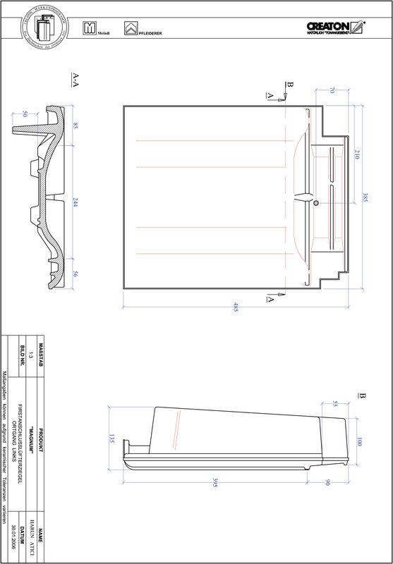 Plik CAD produktu MAGNUM dachówka kalenicowa wentylacyjna boczna lewa FALOGL