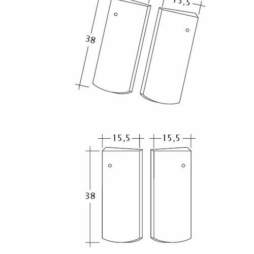Rysunek techniczny produktu PROFIL Kera-Saechs-15cm-Unterlaeufer