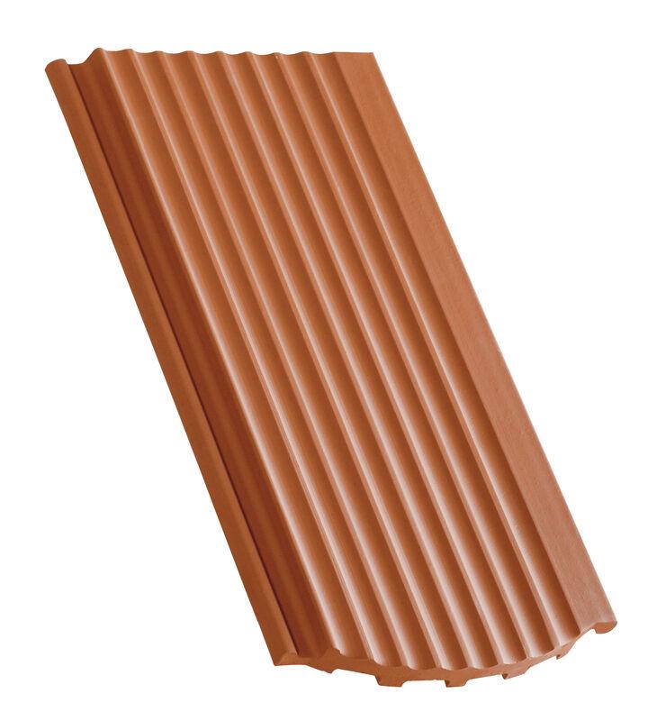 Karpiówka zakładkowa powierzchnia pofalowana krój segmentowy dachówka połaciowa wentylacyjna