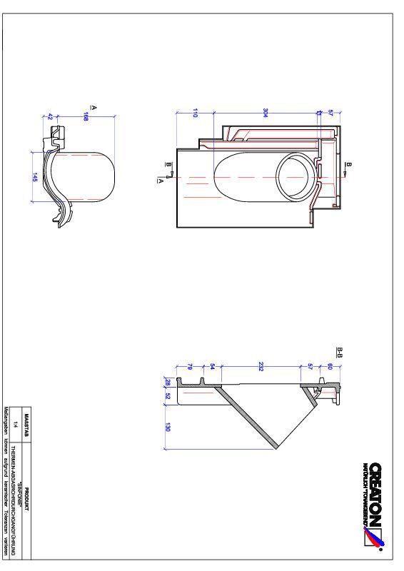 Plik CAD produktu SINFONIE dachówka przelotowa do kominów gazowych THERME