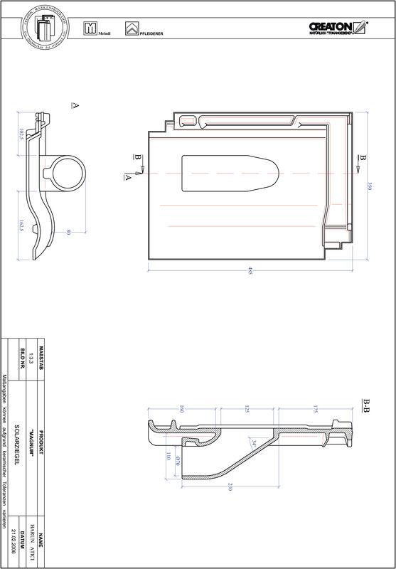 Plik CAD produktu MAGNUM dachówka przelotowa do systemu baterii solarnych SOLAR