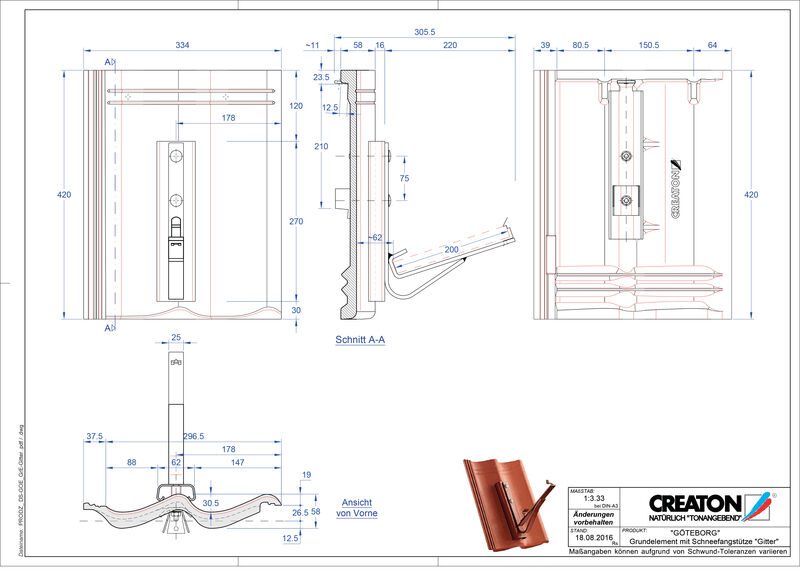 Plik CAD produktu GÖTEBORG dach. podst. Gitter