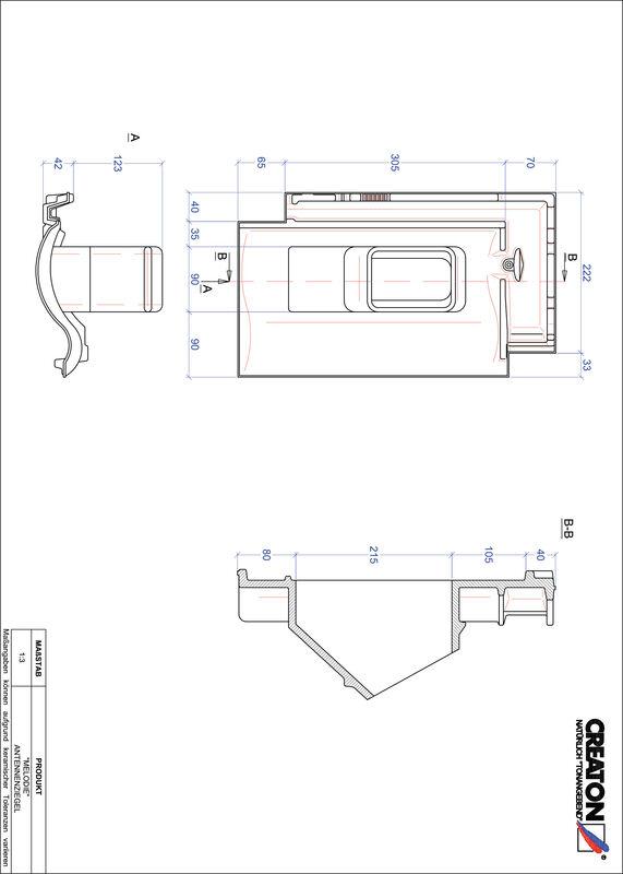 Plik CAD produktu MELODIE dachówka antenowa ANTENNE