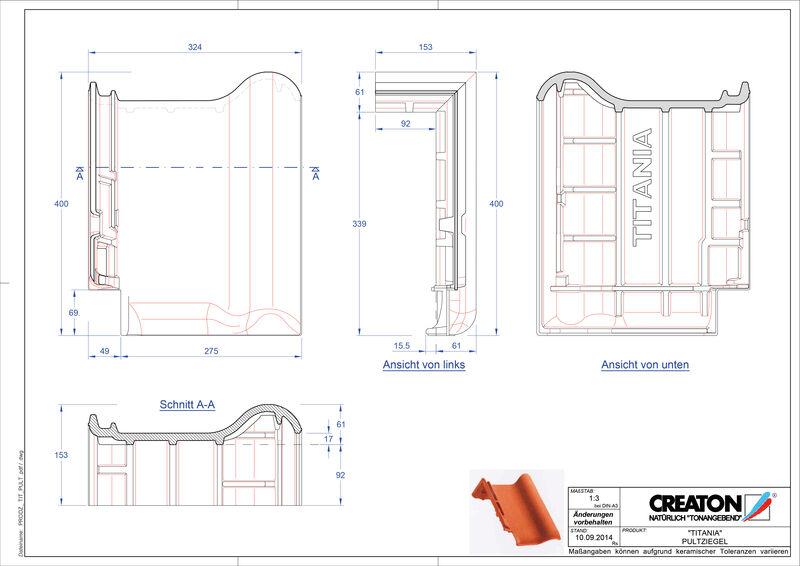 Plik CAD produktu TITANIA dachówka pulpitowa PULT