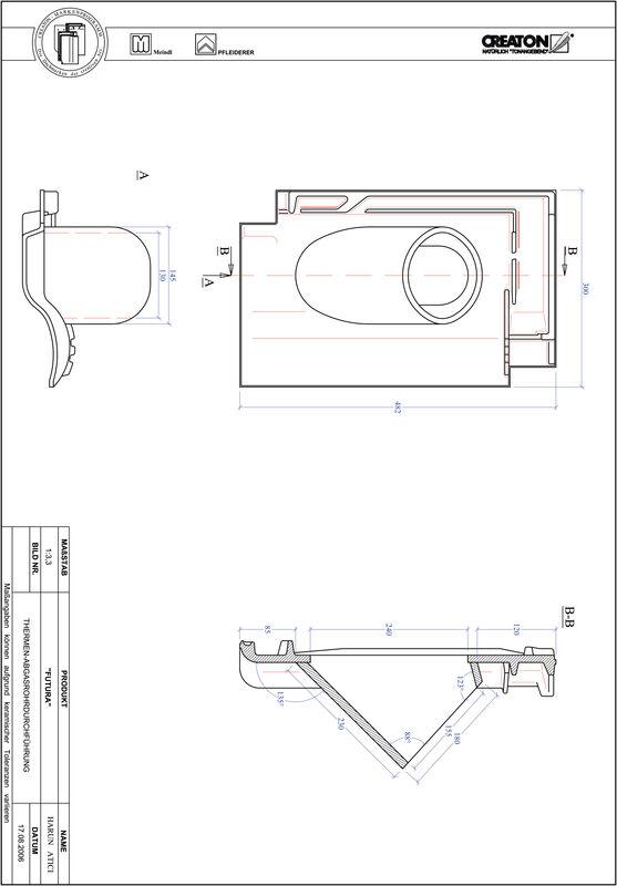 Plik CAD produktu FUTURA dachówka przelotowa do kominów gazowych THERME
