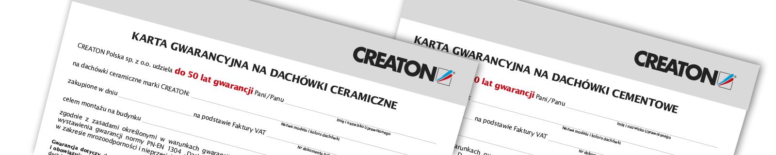Gwarancja na dachówki CREATON w wersji rozszerzonej