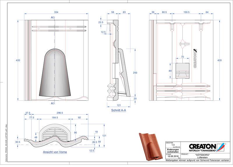 Plik CAD produktu GÖTEBORG dachówka wentylacyjna Luefterstein