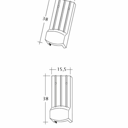 Rysunek techniczny produktu PROFIL Kera-Saechs-15cm-LUEFTZ