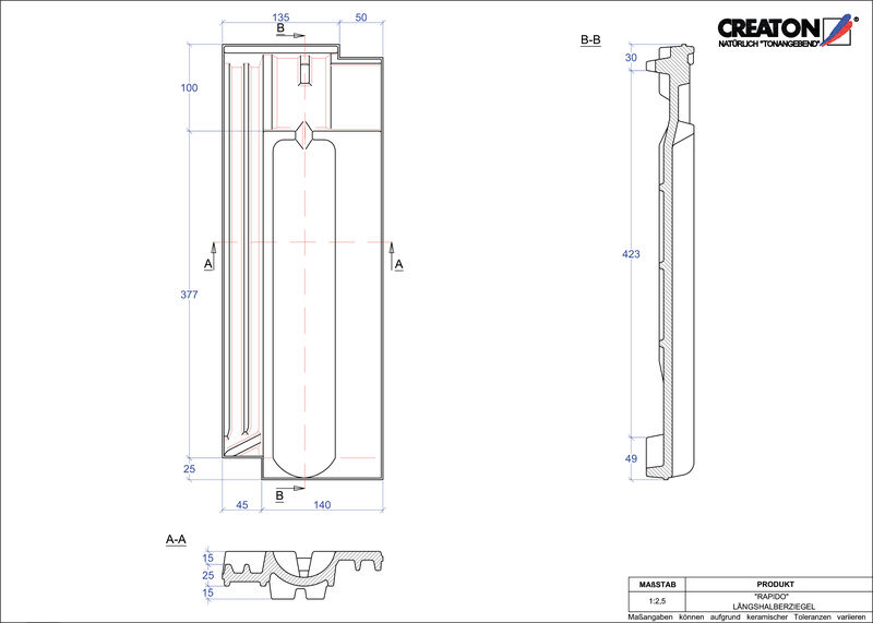 Plik CAD produktu RAPIDO dachówka połówkowa LH