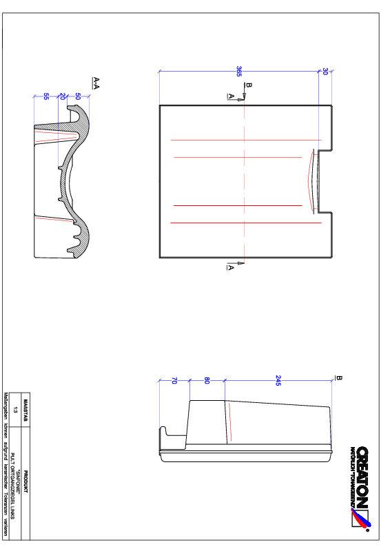 Plik CAD produktu SINFONIE dachówka pulpitowa boczna lewa PULTOGL