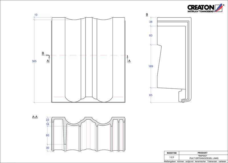 Plik CAD produktu RAPIDO dachówka pulpitowa boczna lewa PULTOGL