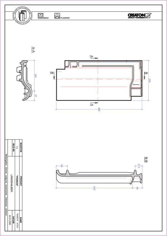 Plik CAD produktu PREMION dachówka połówkowa LH
