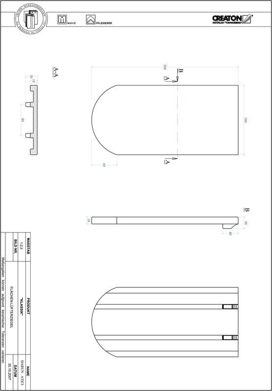 Plik CAD produktu KLASSIK krój zaokrąglony RUND-FLUEFTZ