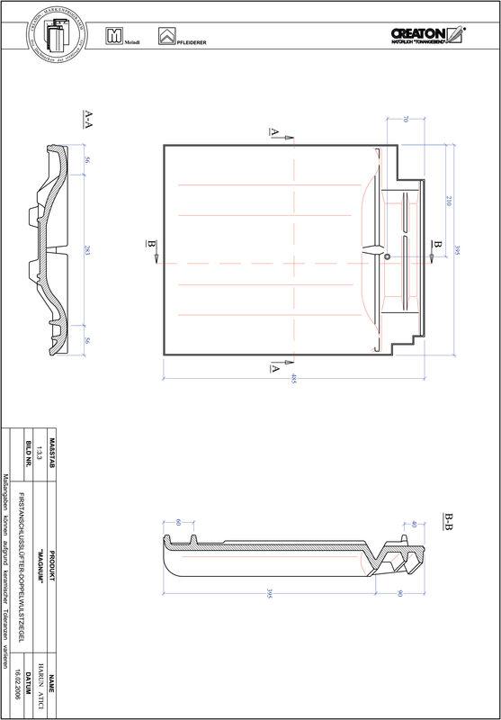 Plik CAD produktu MAGNUM dachówka kalenicowa wentylacyjna dwufalowa FALDWZ