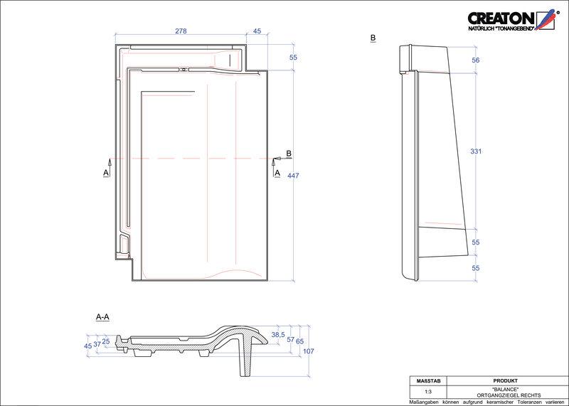 Plik CAD produktu BALANCE dachówka boczna prawa OGR