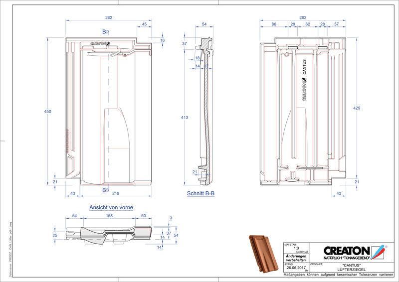 Plik CAD produktu CANTUS dachówka wentylacyjna LUEFTZ