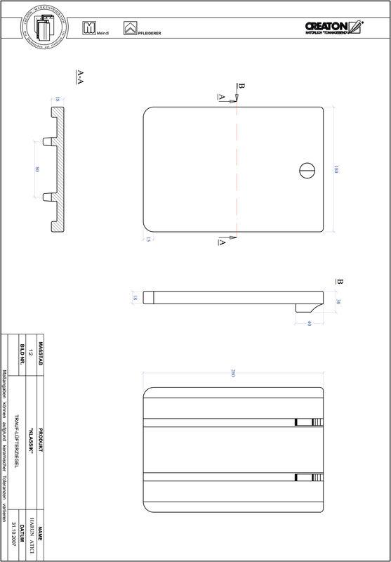 Plik CAD produktu KLASSIK krój zaokrąglony RUND-TRAUF-LUEFTZ