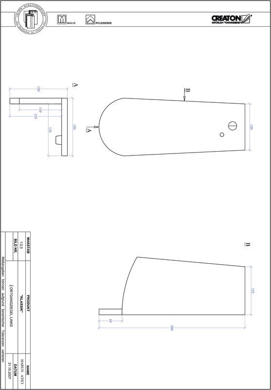 Plik CAD produktu KLASSIK krój zaokrąglony RUND-OGL-3-4
