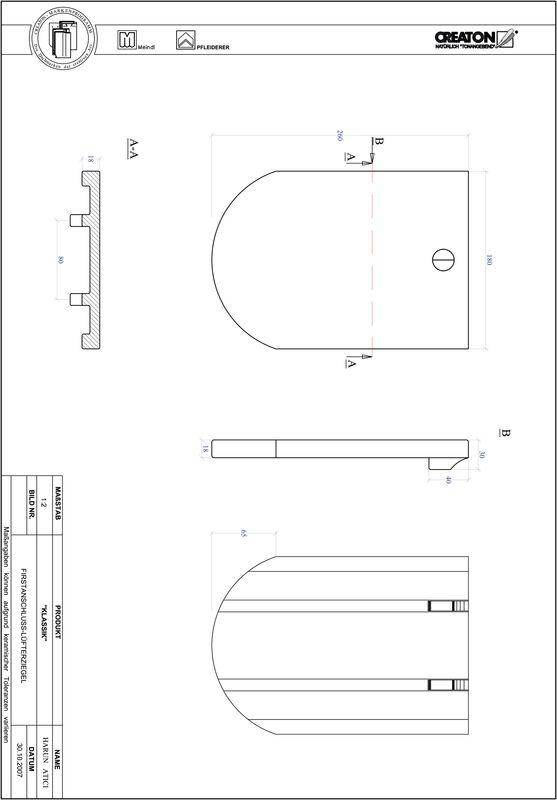 Plik CAD produktu KLASSIK krój zaokrąglony RUND-FALZ