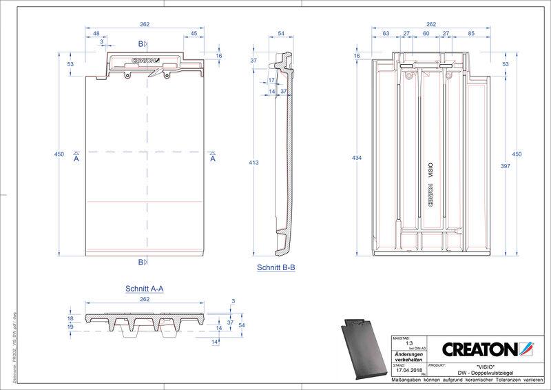 Plik CAD produktu VISIO dachówka dwufalowa DWZ