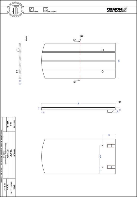 Plik CAD produktu PROFIL krój segmentowy KERA-SAECHS-18-CM-1-1
